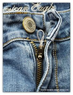 Great idea to keep your zipper from falling !
