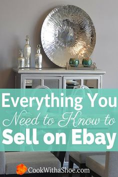 Intimidated by selling on Ebay? Need some extra cash? This step by step tutorial will convince you how easy it is to sell your unwanted items on Ebay as a side hustle! @cookwithashoe