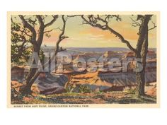 Sunset from Hopi Point, Grand Canyon by AJ Messier Landscapes Art Print - 61 x 46 cm