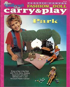 Fashion doll Carry and Play Park Plastic Canvas Pattern The Needlecraft Shop 943739. $12.00, via Etsy.