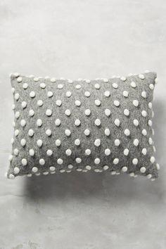 Anthropologie Woolen Pom Pillow