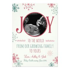 Shop Christmas pregnancy ultrasound announcement Joy created by Anietillustration. Pregnancy Ultrasound, Pregnancy Photos, Pregnancy Announcements, Holiday Cards, Christmas Cards, Merry Christmas, Paper Texture, Joy, Prints