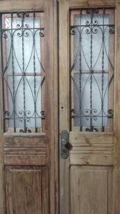 porta antiga madeira maciça - folha dupla e bandeira