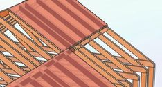 How to Build a Hip Roof: 15 Steps (with Pictures) - wikiHow Hip Roof Design, Gable Roof Design, Roof Truss Design, Building A Shed Roof, Building A Patio, Framing Construction, Corrugated Roofing, Gambrel Roof, Roof Trusses