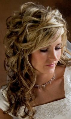 curly long hairstyles ideas for wedding