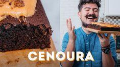 BOLO DE CENOURA INVERTIDO 😱aka DEU A LOUCA NA CENOURA I BIGODE SOZINHO NA COZINHA - YouTube Brazil Food, Ganache, Cupcake, Food Tags, Youtube, Make It Yourself, Desserts, Creme, Interior