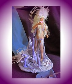 Sculpture Fantasy Art OOAK Renaissance Faerie Purple Passion Fairy. $175.00, via Etsy.