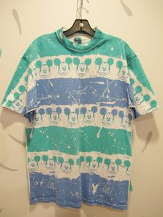 Vintage all over print Mickey Mouse T shirt One size by kokorokoko, $26.00