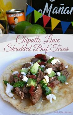 Take your taco obsession to the next level with Chipotle in Adobo! Chipotle Lime Shredded Beef Tacos will make your Taco Tuesday extra spicy! #sponsored #VivaLaMorena #CollectiveBias @LaMorenaUSA