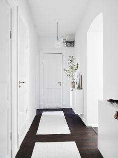 Hallway in a Scandinavian styled Gothenburg apartment.