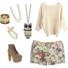 vintage time, created by yaksijz on Polyvore