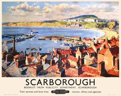 YORKSHIRE - Scarborough Vintage Travel Poster, Gyrth Russell 1950, Railway Posters5