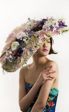 Jinny Young Park floral hat