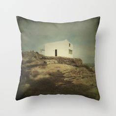 Once Upon a Time a Lonely House Throw Pillow by Victoria Herrera - $20.00