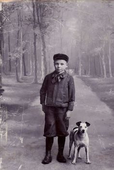 Vintage Doggy: A Boy and His Dog