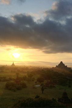 BAGAN, MYANMAR - experience the magical sunrise over the temples in Bagan Myanmar Travel, Asia Travel, Solo Travel, Bagan, Plan Your Trip, Continents, Temples, Cool Places To Visit, Backpacking