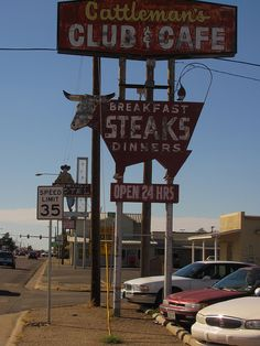 Armarillo, Texas on old Route 66.  My Grandparents & our family love the Cattleman's in Oklahoma City by the Stockyards.  I wonder if it's the same...