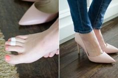 22 Life-Changing Shoe Hacks - Ladies, these 22 tips will save your feet and shoes! Find out how to clean your heels, tennis shoes, and more! Life Hacks Every Girl Should Know, Clean Shoes, Foot Pain, Clothing Hacks, Clothing Ideas, Beauty Hacks, High Heels, Stilettos, My Style