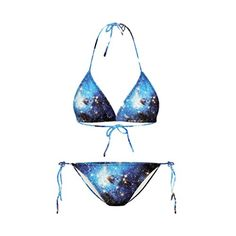 b5afbdc62a Universe Galaxy Nebula All Over Print Space Themed Triangle Bikini Set