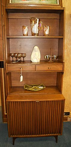 Mid-century room divider and shelf unit.