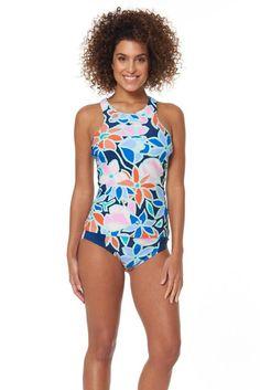 97c62b965d319e Sketchers Women's Sum Camo Hi Neck Tankini Swimsuit - Sun & Ski Sports