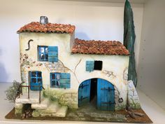 Clay Houses, Miniature Houses, Christmas Nativity Scene, Christmas Home, Diorama, Living Room Tv Unit Designs, Doll House Crafts, Puppet Crafts, City Illustration