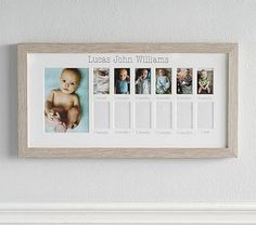 Pottery Barn Kids Vintage Wood First Year Frame Baby Frame, Pokemon, Unique Baby Shower Gifts, Baby Keepsake, Keepsake Boxes, Babies First Year, Pottery Barn Kids, Baby Pictures, Baby Room