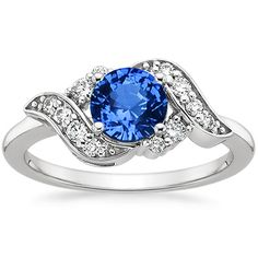 18K White Gold Sapphire Polaris Diamond Ring (1/4 CT. TW.) from Brilliant Earth
