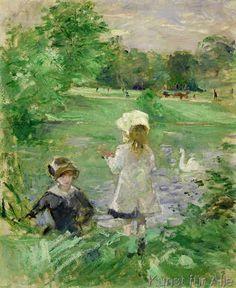 Berthe Morisot - Beside a Lake, 1883