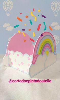 Centro de mesa Chuva de Amor. Rainbow Parties, Girl Birthday, Diy And Crafts, Birthdays, Victoria, Baby Shower, Party, Love Rain, Happy Party