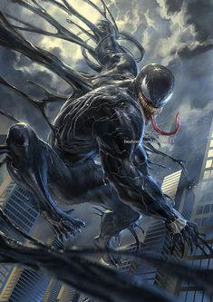 Venom Art By the_knott Marvel Comics, Venom Comics, Marvel Villains, Marvel Comic Universe, Comics Universe, Marvel Vs, Marvel Heroes, Marvel Characters, Aquaman Comics