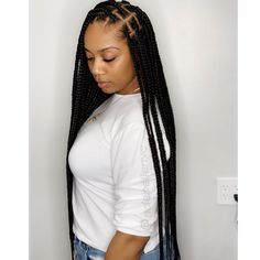 Top 60 All the Rage Looks with Long Box Braids - Hairstyles Trends Box Braids Hairstyles For Black Women, Black Girl Braids, African Braids Hairstyles, Braids For Black Women, Braids For Black Hair, Girls Braids, Hairstyles With Bangs, Weave Hairstyles, Girl Hairstyles