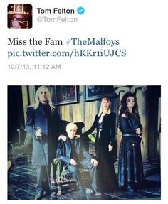 Tom Felton's tweet today. He's awesome. (Haha! That's great!) :)