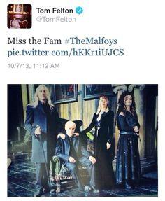 Tom Felton's tweet today. He's awesome.
