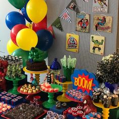 70 powerful ideas and step by step to make yours - Birthday FM : Home of Birtday Inspirations, Wishes, DIY, Music & Ideas 4th Birthday Parties, Birthday Party Decorations, It's Your Birthday, Man Birthday, Mini Balloons, Large Balloons, Hulk Party, Superhero Party, Avengers Birthday