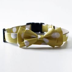 My son would look swaggy in this | Dot Bow Tie Collar Yellow, $30, now featured on Fab.