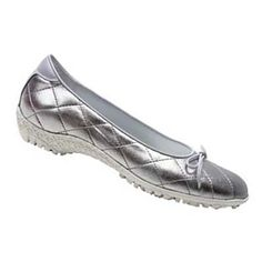 Linea Stretch Bianca metallic silver golf and street shoes for women. Sale Price: $199.70
