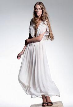 Robe longue blanche Forte Forte Printemps Eté 2012