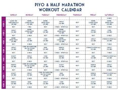 Half Marathon Beachbody Hybrid Workout Training Schedule