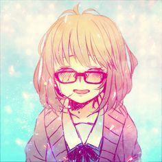 Kuriyama Mirai~Kyoukai no Kanata Manga Art, Anime Art, Mirai Kuriyama, My Little Monster, Kyoto Animation, Estilo Anime, Anime Angel, Memes, Fanart