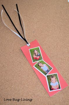 DIY Photo Bookmark - Great Mother's Day gift.  Mod Podge craft!