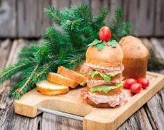 Mini panettone en millefeuille au fromage et au salami  Ingrédients