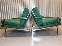 Cy Mann Chrome Lounge Chairs Style Of Milo Baughman  | eBay