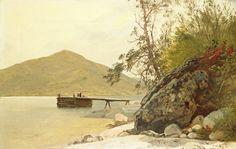 John Frederick Kensett, 'Landing at Sabbath Day Point,' c. 1853, National Gallery of Art, Washington D.C.