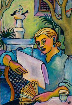 Calor, s/d Anna Oneglia (EUa, 1951) óleo sobre tela, 80 x 55 cm www.annaoneglia.com