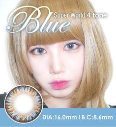 [16mm ] Super World 4 tone  Blue  /619 contacts