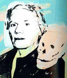 Andy Warhol, Autoretrat amb calavera, 1978. ANDY WARHOL.