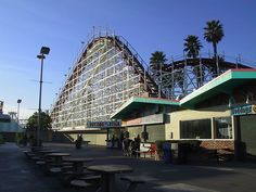 Gaint Dipper Roller Coaster at Santa Cruz Board Walk Santa Cruz CA