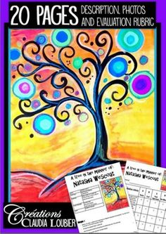 Tree in the manner of Natasha Wescoat!Here is an art activity for grades 1 to 4. Mixted media, paint, wax, felt and gluing. Make a beautiful landscape in a few easy steps. This document will give you a detailed description with photos for each of the steps.