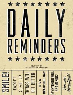 Daily Reminder Print SOURCE